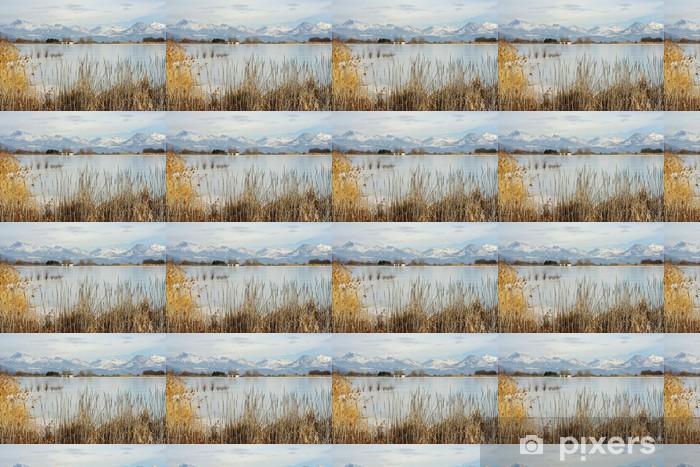 Papier peint vinyle sur mesure Lac de pelleautier gelé, hautes-alpes, france - Sports d'extérieur