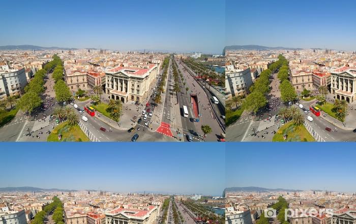 Ylhäältä katsottuna barcelona Vinyylitapetti - Euroopan Kaupunkeja