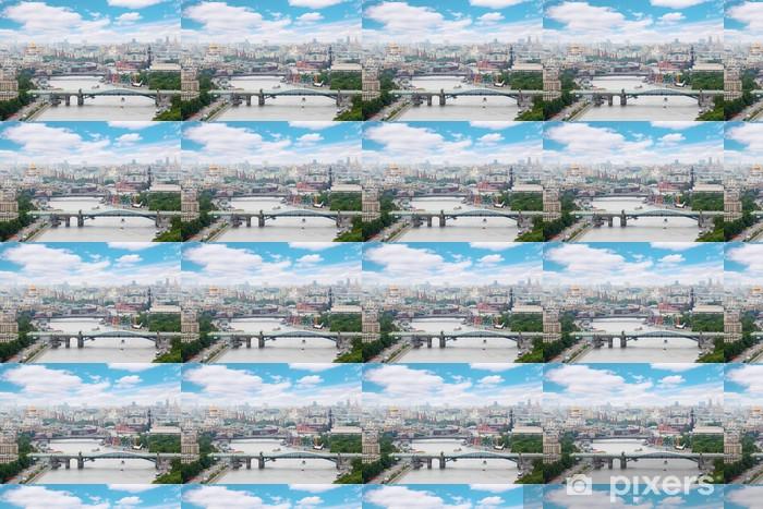 Vinylová tapeta na míru Pushkinsky a Krymsky mosty v den v Moskvě, Rusko - Asijská města