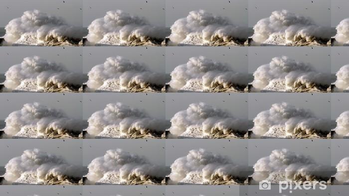 Papier peint vinyle sur mesure Vagues orageuses - Eau