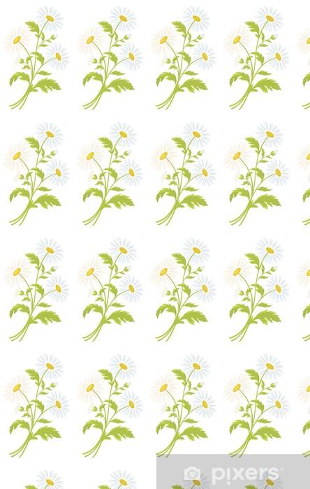 Papier peint vinyle sur mesure Fleurs de camomille - Fleurs