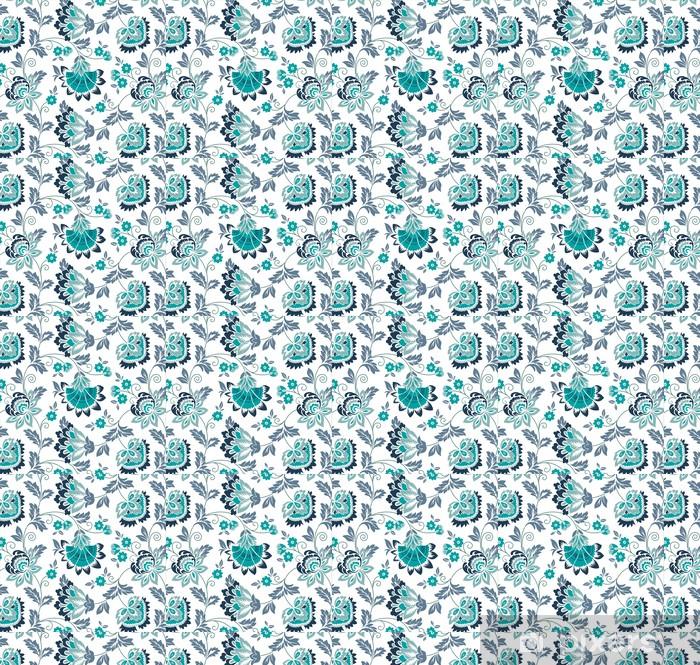 Tapeta na wymiar winylowa Lilie wodne, kwiatowy wzór, wzór tkaniny, Indie - Azja