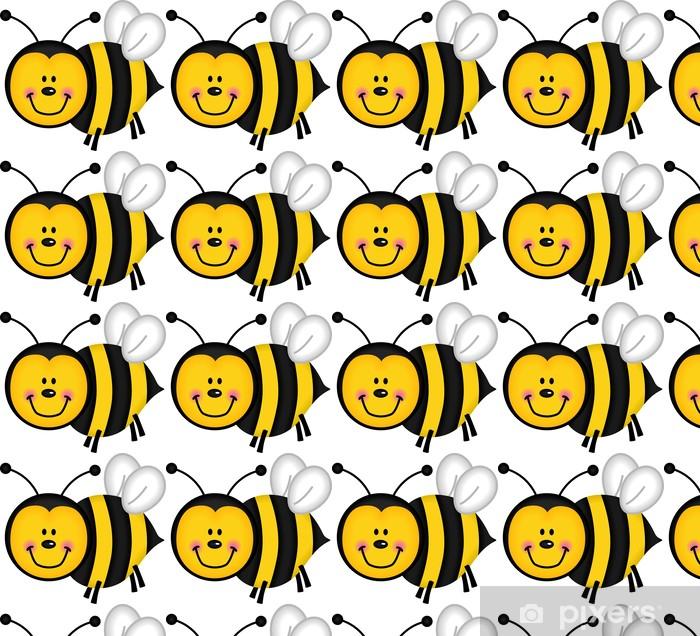 Tapeta na wymiar winylowa Pszczoła szczęśliwy - Inne Inne