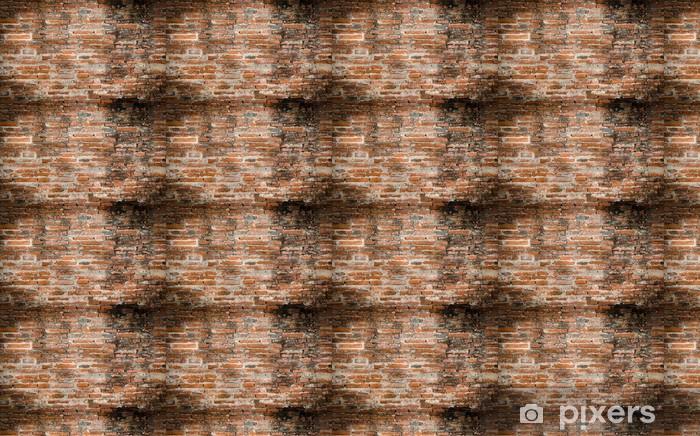Papier peint vinyle sur mesure Mur briques anciennes - Textures