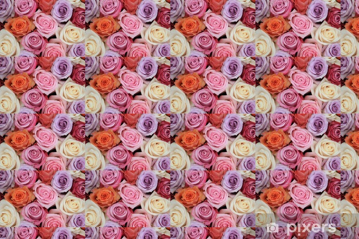 Pastel rose wedding flowers Vinyl custom-made wallpaper - Themes