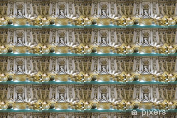 Carta da parati in vinile su misura Fontana di Trevi, più famosa fontana del mondo - Città europee