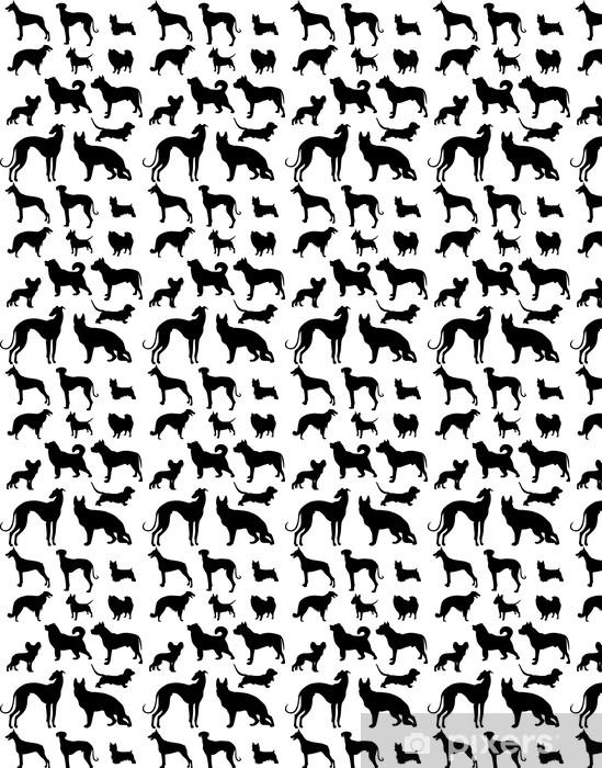 Papier peint vinyle sur mesure Ensemble Dog - Mammifères