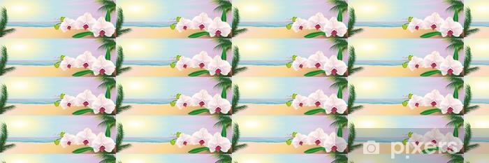 Tapeta na wymiar winylowa Морской пейзаж орхидеи - Tła