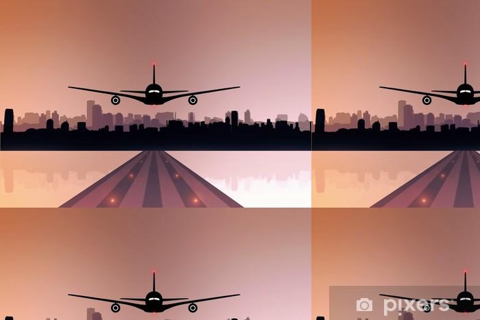 Vinylová Tapeta Letadlo přistání - vzlétne - Vzduch