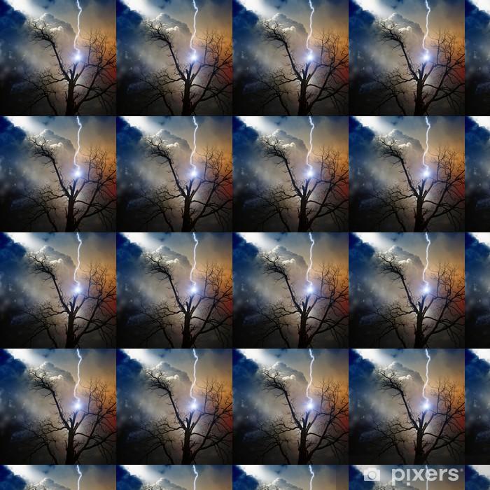 Vinylová tapeta na míru Strom zasáhl blesk - Přírodní katastrofy