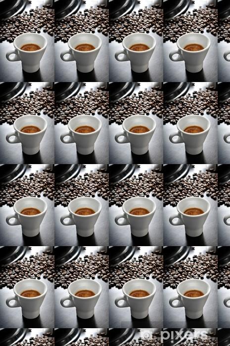 espresso coffee in wooden table Vinyl custom-made wallpaper - Hot Drinks