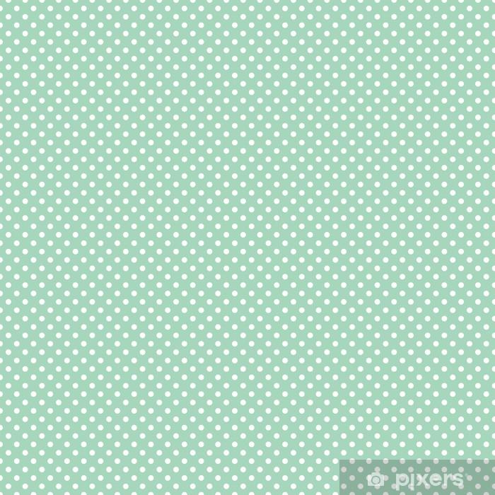 Bekannt Tapete Vektor-Muster mit weißen Tupfen auf mint Hintergrund SW82