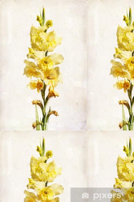 Vinylová Tapeta Akvarel žlutý mečík - Květiny