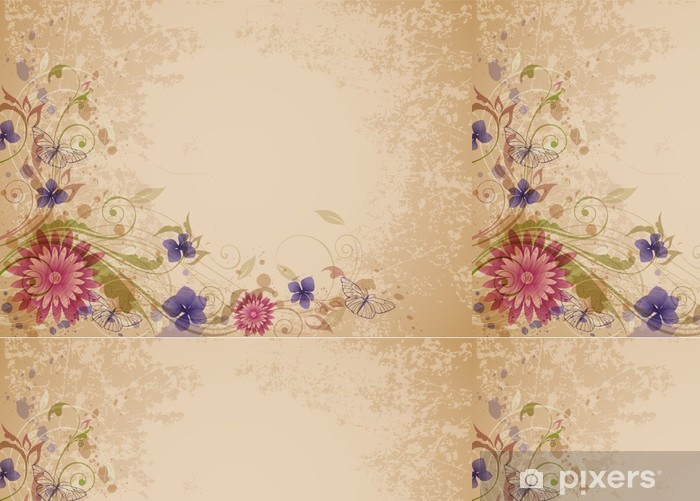 Vinylová Tapeta Starý květinové pozadí. - Květiny
