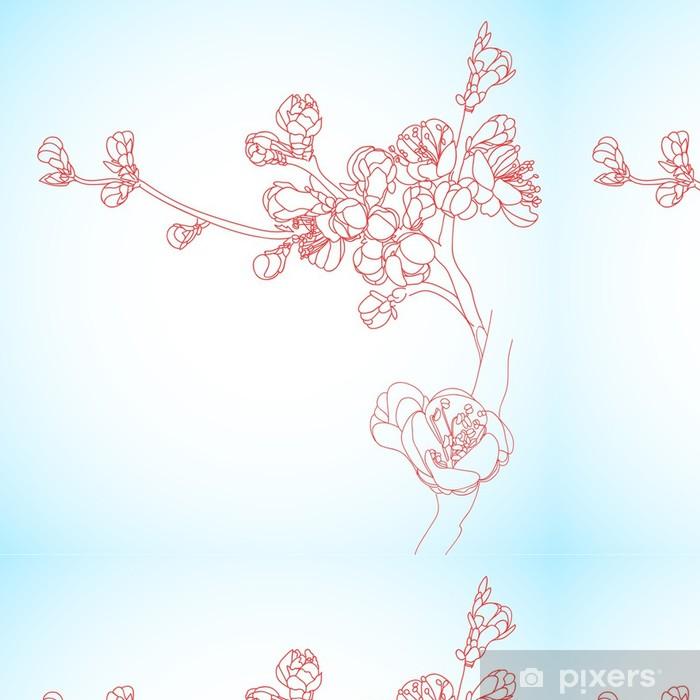 Vinylová Tapeta Pozadí s sakura květy - Roční období