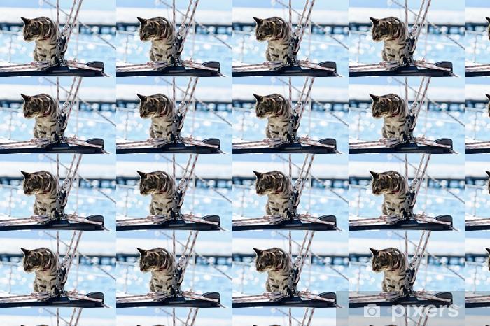 Tapeta na wymiar winylowa Skipper kota takielunku jachtu - Transport wodny