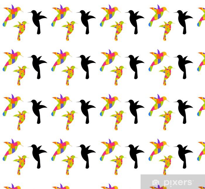 Carta da parati in vinile su misura Hummingbirds - Uccelli