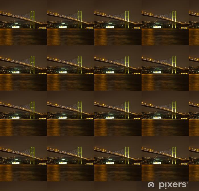 Tapeta na wymiar winylowa Bosphorus Bridge w nocy - Wakacje