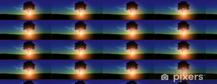 Vinylová tapeta na míru Východ slunce - Nebe