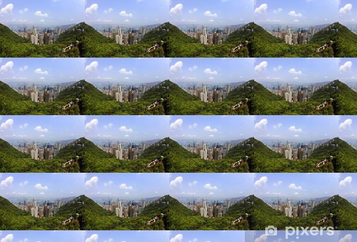 Papier peint vinyle sur mesure Hong Kong skyline - Asie