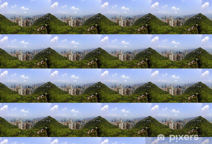 Hong Kong Skyline Vinyl custom-made wallpaper - Asia