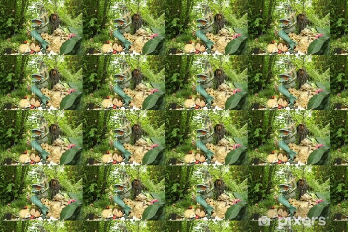 Papier peint vinyle sur mesure Décoration de jardin - Animaux imaginaires