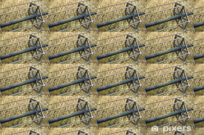 Papier peint vinyle sur mesure Rabatteur à griffes d'moissonneuse juin - Agriculture