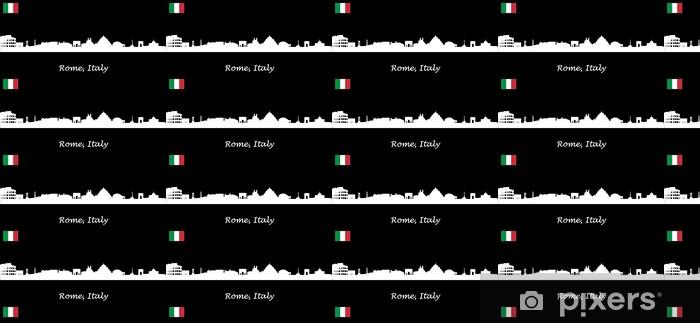 Tapeta na wymiar winylowa Skyline Rzym - Włochy - Miasta europejskie