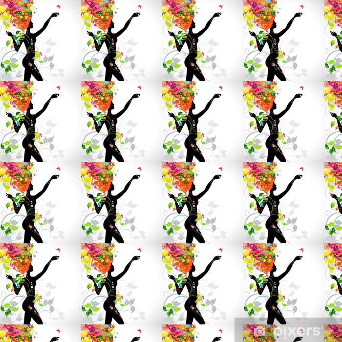Tapeta na wymiar winylowa Lato dekoracyjnych kompozycji z dziewczyną - Moda