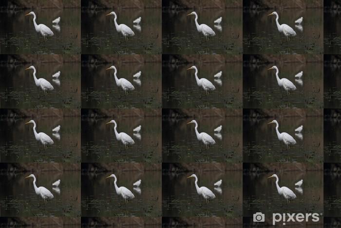 Papier peint vinyle sur mesure Grande Aigrette - Oiseaux