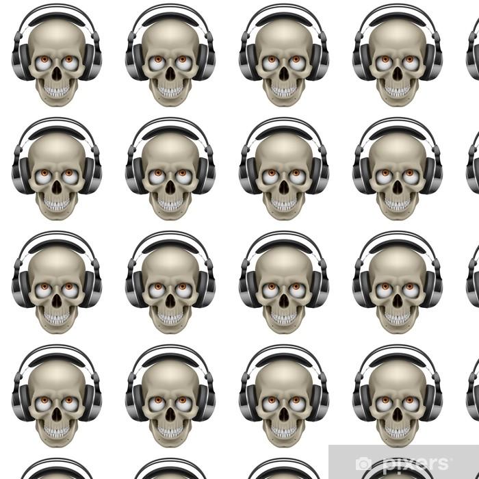 Vinyl Behang Menselijke schedel. - Gezondheid en Geneeskunde