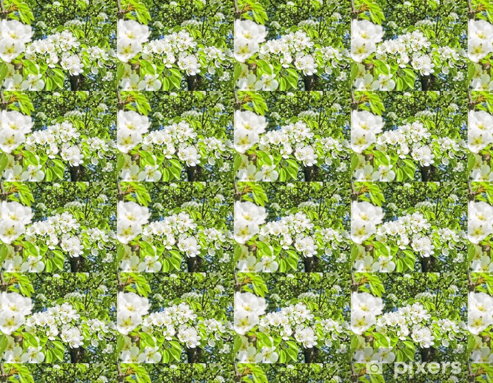 Vinylová tapeta na míru Hrušeň s květinami - Stromy