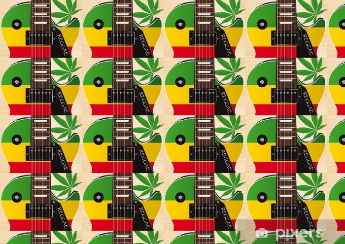 Tapeta na wymiar winylowa Guitare_Electrique_Reggae - Tematy