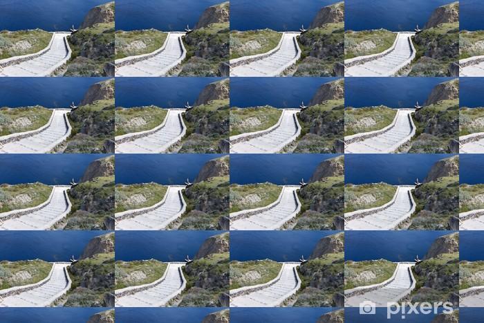 Vinyl behang, op maat gemaakt De vulkanische caldera op het eiland Santorini in Griekenland - Europa