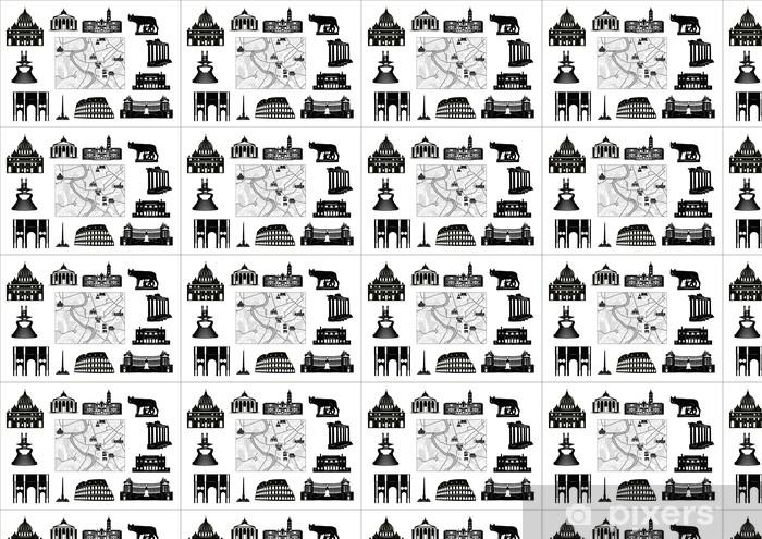 Karte Europa Schwarz Weiss.Tapete Rom Schwarz Weiss Karte Und Markenzeichen Nach Mass
