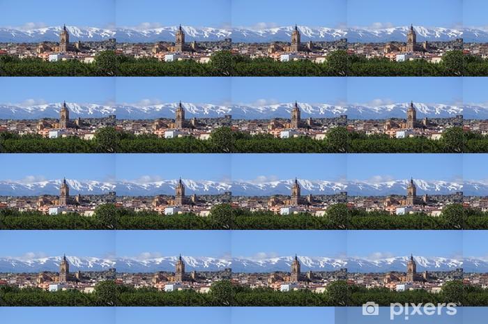 Town and Sierra Nevada mountains, Guadix © Arena Photo UK Vinyl custom-made wallpaper - Europe