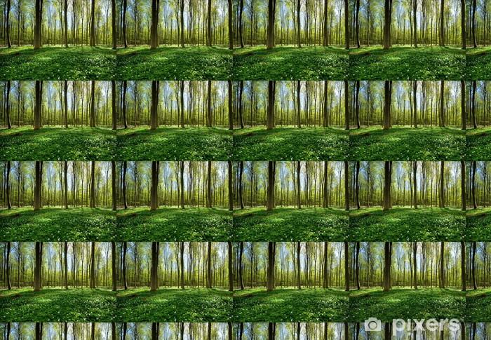Vinylová tapeta na míru Jaro v lese - Témata