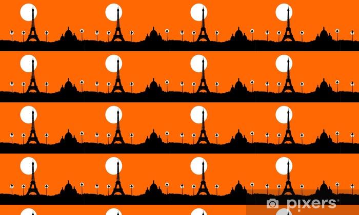 Papier peint vinyle sur mesure Paris - Soirée - Villes européennes
