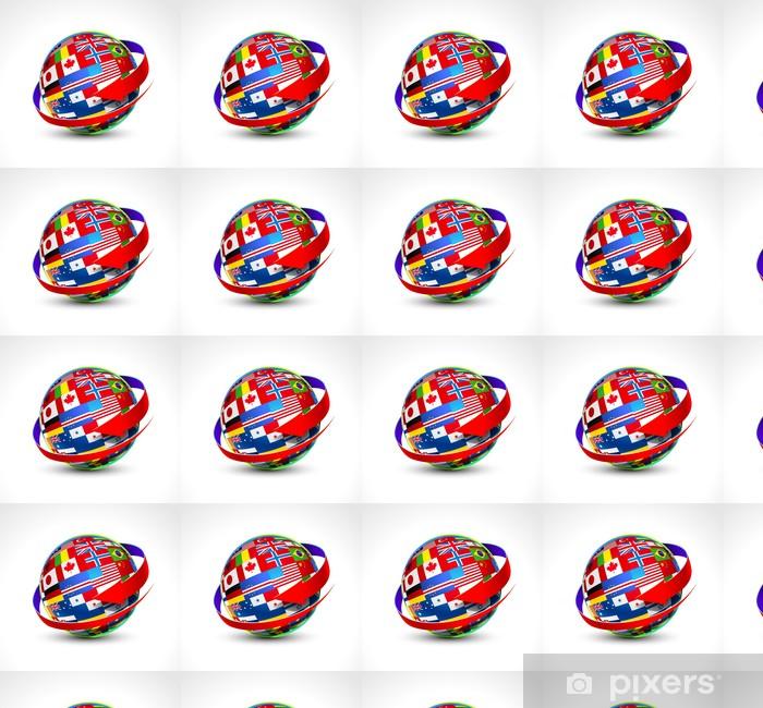 Tapeta na wymiar winylowa Świat flagi kuli. Ilustracji wektorowych - Przestrzeń kosmiczna
