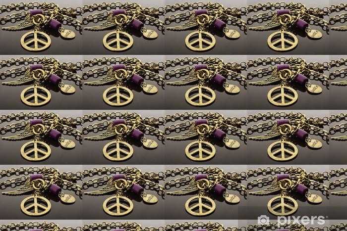 Papier peint vinyle sur mesure Signe de paix à collier - Paix