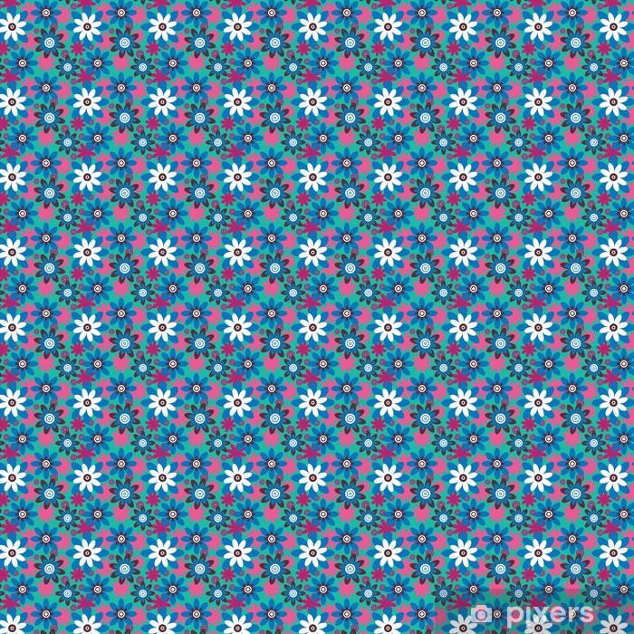 Papel de parede em vinil à sua medida Seamless colourfull flower pattern - Estilos