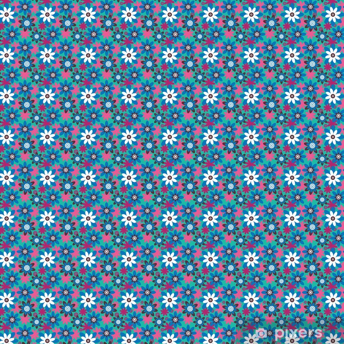 Papier peint vinyle sur mesure Motif de fleurs colourfull transparente - Styles