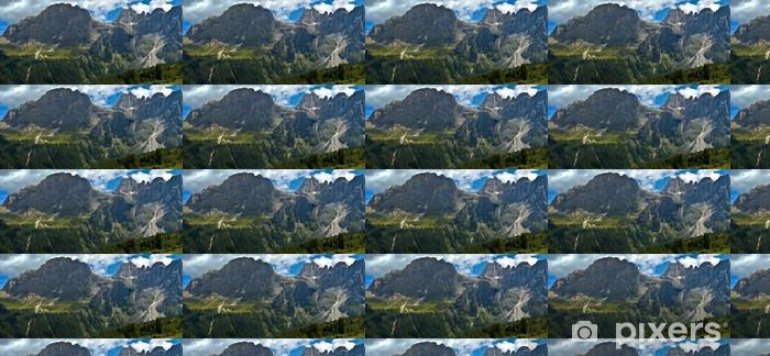 Papier peint vinyle sur mesure Mont Mulaz et le haut de la Focobon, Dolomites - Europe