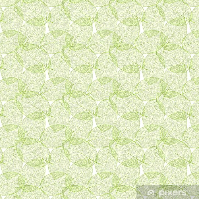 Fresh green leaves background - vector illustration Vinyl custom-made wallpaper - Styles