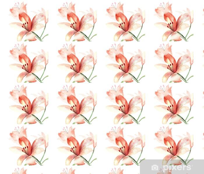 Papier peint vinyle sur mesure Belles fleurs de lys - Fleurs