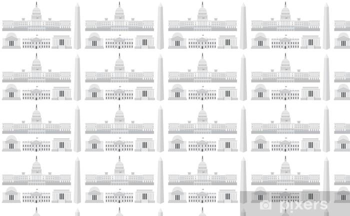 Washington DC: n päärakennukset ja muistomerkit Räätälöity vinyylitapetti - Amerikan Kaupunkeja