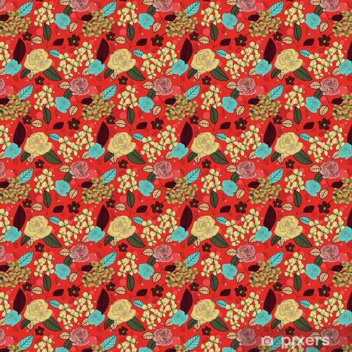 Papier peint vinyle sur mesure Seamless floral texture - Arrière plans