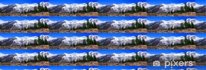 Tapeta na wymiar winylowa Piękny widok na góry w Elbrus obszarze. Land View. - Tematy