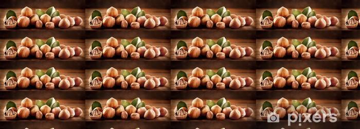 Vinyltapete nach Maß Gruppe von Haselnüssen - Früchte