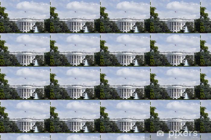 Papier peint vinyle sur mesure La Maison Blanche à Washington - aile Nord avec le ciel bleu - Villes américaines
